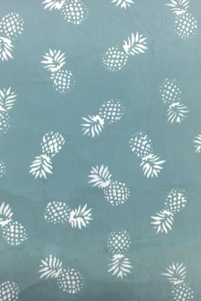 Cotton Batik With Pineapples Repeat in Oasis0