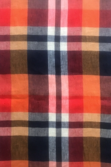 Italian Linen Madras Plaid 0