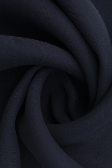 Silk and Viscose Blend Heavy Georgette in Navy0