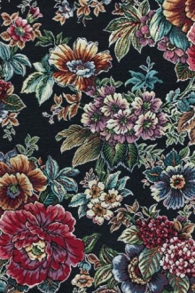 Cotton Blend Floral Tapestry Brocade0