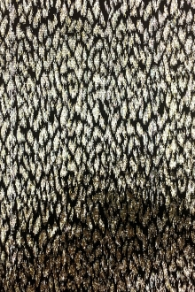 Silk Lurex Panne Velvet with Animal Print in Black and Gold0