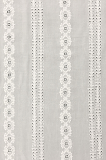 Cotton Voile Eyelet in Off White0