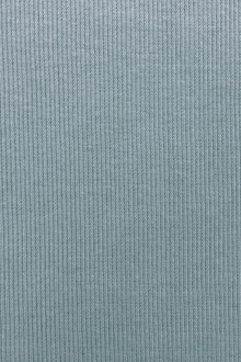 Japanese Cotton Rib Knit in Powder Blue0