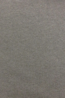 Bamboo Cotton Lycra Rib Knit in Heather Grey0
