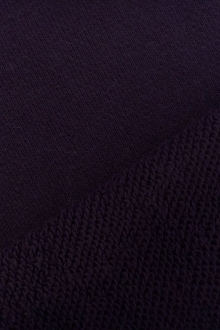 Large Loop Cotton French Terry Knit in Plum0
