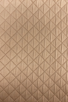Diamond Quilted Woven Polyester in Golden0