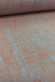 Two Toned Lightweight Linen in Baby Blue Orange0
