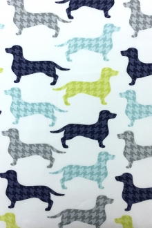 Cotton Broadcloth Dachshunds Print 0