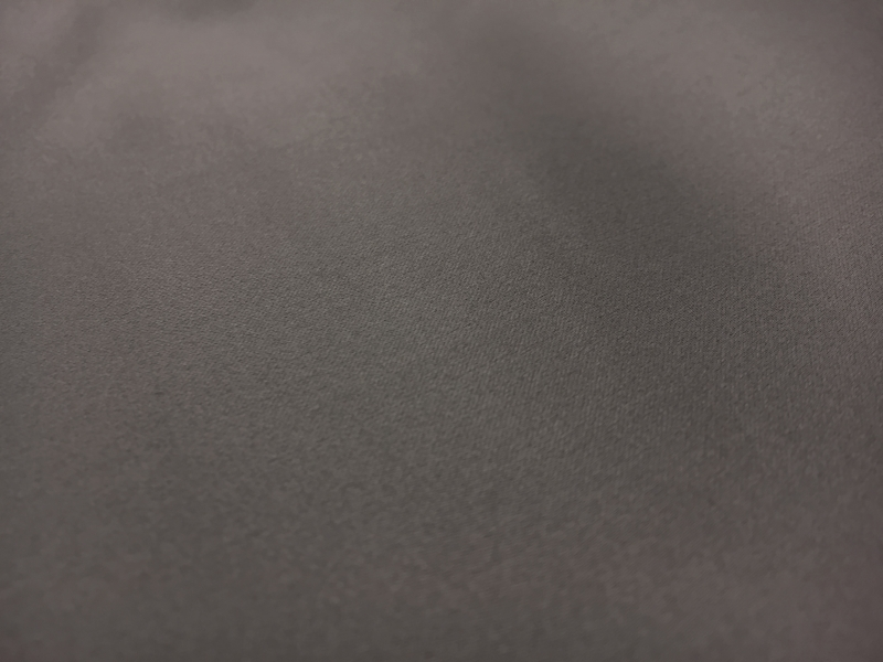 Italian Silk Duchesse Satin in Gunmetal1