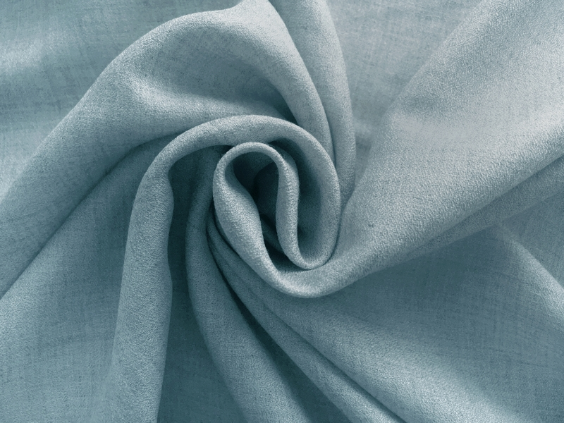 Spanish Viscose and Wool Crepe Challis in Turquoise1