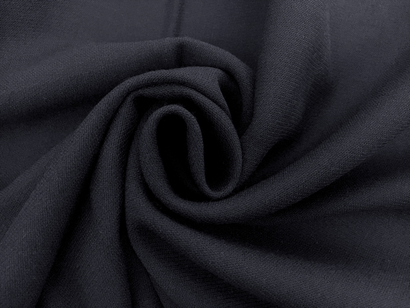 Italian Wool Tricotine in Midnight Navy1