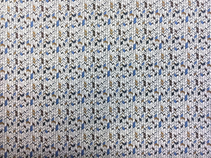 Cotton Broadcloth With Small Geometric Print0