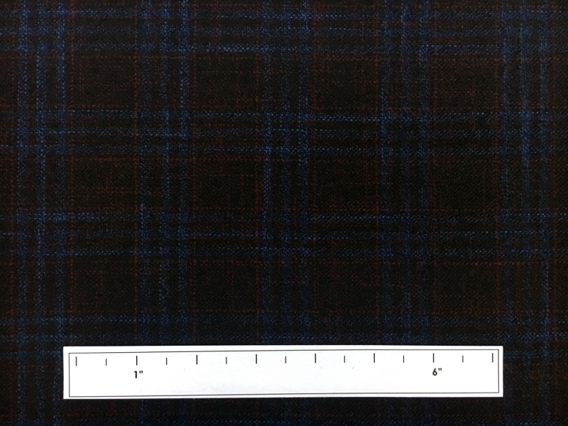 Italian Virgin Wool Bamboo Plaid Suiting3