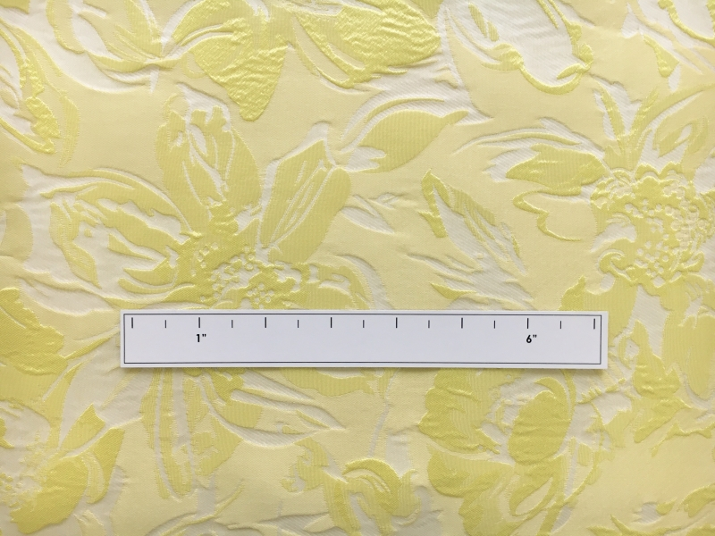 Polyester Floral Jacquard Brocade in Princess Yellow1