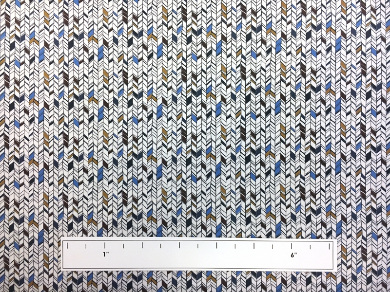Cotton Broadcloth With Small Geometric Print2