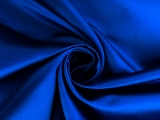 Italian Silk Duchesse Satin in Royal Blue0
