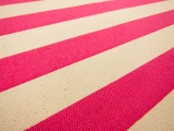 "Japanese Cotton Canvas 1.25"" Stripe In Pink And Natural0"