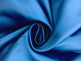 Italian Silk Duchesse Satin in Steel Blue0