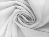 Polyester Stretch Crepe in White0
