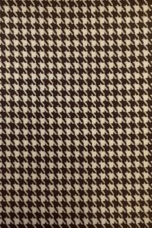 Italian Virgin Wool Houndstooth in Marrone0