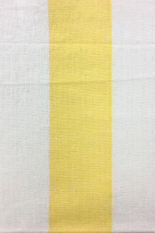 "Cotton Upholstery 3"" Stripe In Yellow And White0"