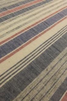 Japanese Woven Cotton and Linen Stripe0