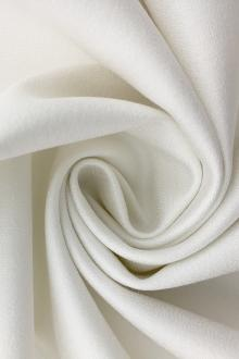 Italian Stretch Matte Silk Crepe in Silk White0