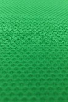 Italian Cotton Lycra Pique in Shamrock Green0
