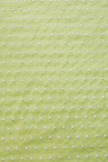 Cotton Embroidered Dots in Spring Bud0