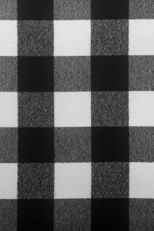 Cotton Mammoth Flannel Check Black and White0