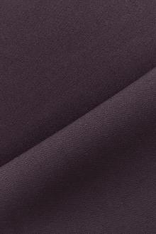 Italian Wool Satin Faille in Dark Purple0