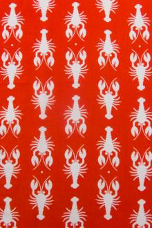 Cotton Canvas Lobster Print0