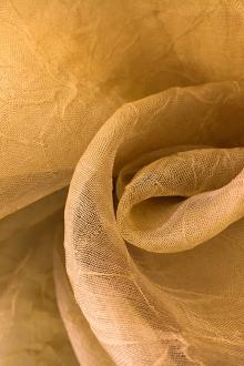 Crushed Silk Organza in Tan0