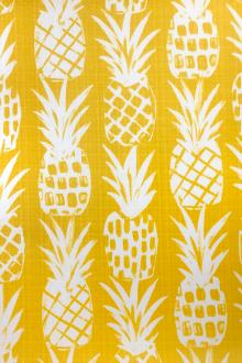 Yellow Pineapples Polyester Outdoor Print0