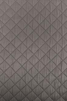 Diamond Quilted Woven Polyester in Graphite0
