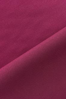 Italian Wool Satin Faille in Dark Magenta0