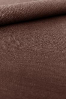Stretch Linen Rayon Blend in Chocolate0