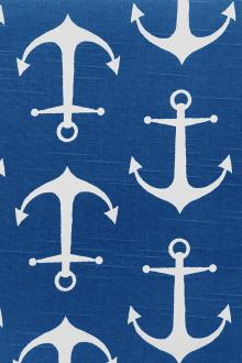 Cotton Canvas With Anchor Print0