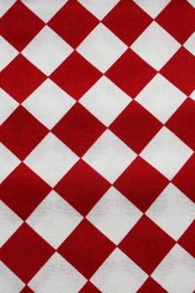 Cotton Canvas Diamond Check Print0