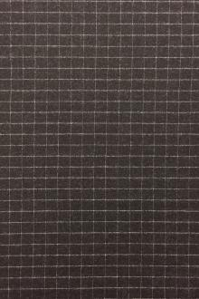 Italian Wool And Lycra Window Pane Flannel0