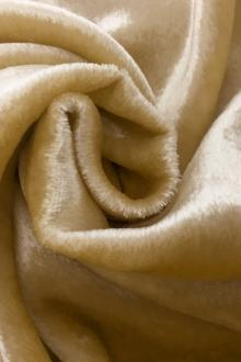 French Silk Rayon Panne Velvet in Gold0