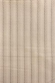 Beige Pinstripe Cotton Woven Novelty 0