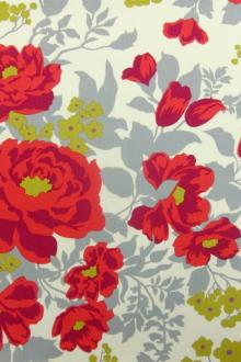 Cotton Satin Gabardine Print0