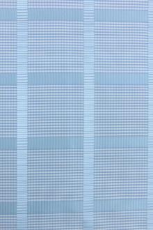 Silk Gingham Taffeta With Satin Stripe0