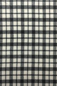 REDUCED Wool Check in Black and White0