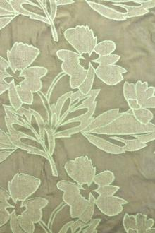Silk Taffeta with Embroidered Flowers and Mesh0
