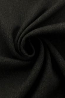 Italian Wool Blend Stretch Doubleface Twill Coating in Charcoal0