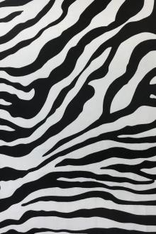 Lightweight Linen Zebra Print in Black0