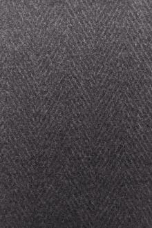 Italian Wool Cashmere Herringbone Jacketing in Grey0