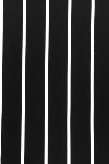 "Cotton Rayon Black And White Satin 1/4"" Stripe0"